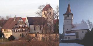 Leidringer-Peterskirche mit Pfarrhaus und Rotenzimmerns-Nikolauskirche